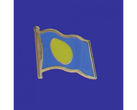 Palau Lapel Pin (Single Waving Flag)