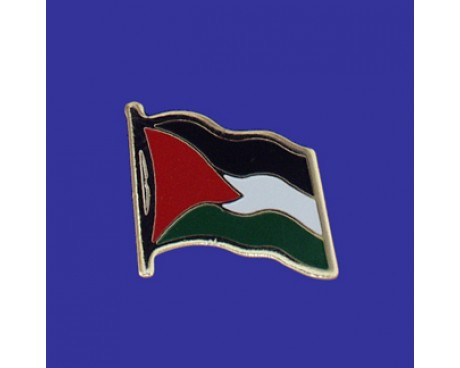 Palestine Lapel Pin (Single Waving Flag)