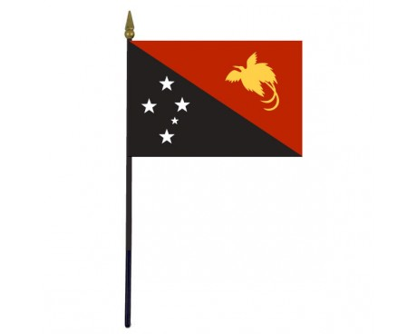 Papua New Guinea Stick Flag - 4x6""