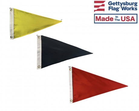 Blank Nylon Triangle Pennant Flags - Choose Options