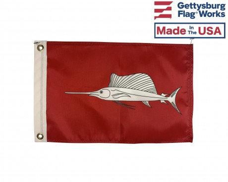 Sailfish Flag - 12x18""
