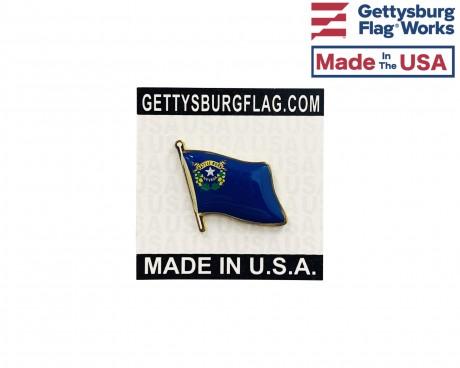 Nevada State Flag Lapel Pin (Single Waving Flag)