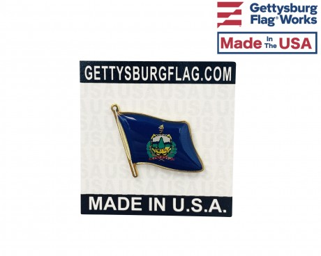 Vermont State Flag Lapel Pin (Single Waving Flag)