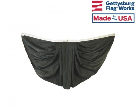 Black Pleated Mourning Fan Bunting - 3x6'