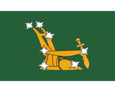 Plough & Stars Revolt Flag 1916 - 3x5'