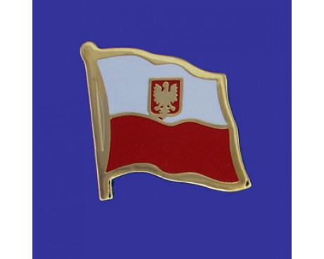 Poland Ancestral Lapel Pin (Single Waving Flag)