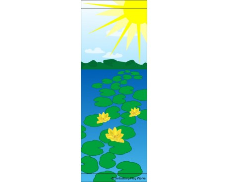 Pond Lilies Avenue Banner