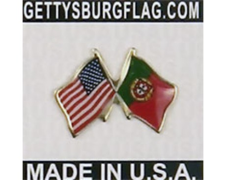 Portugal Lapel Pin (with US Flag)