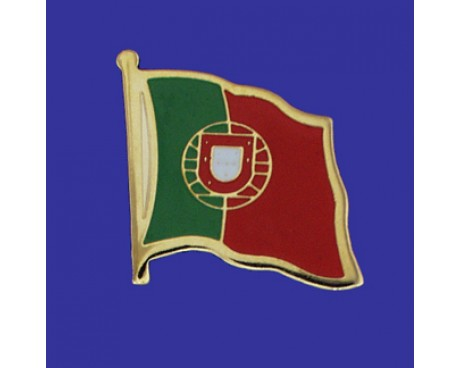 Portugal Lapel Pin (Single Waving Flag)