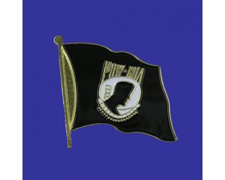 POW/MIA Lapel Pin (Single Waving Flag)