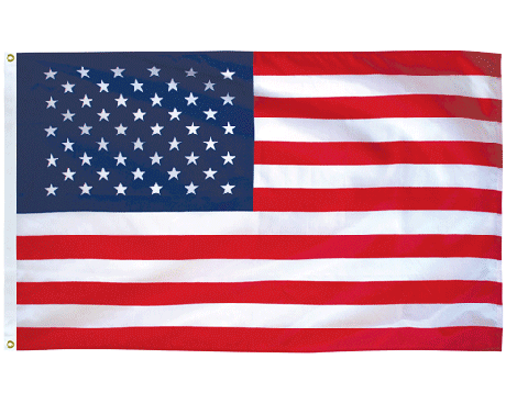 Printed American Flag Clear