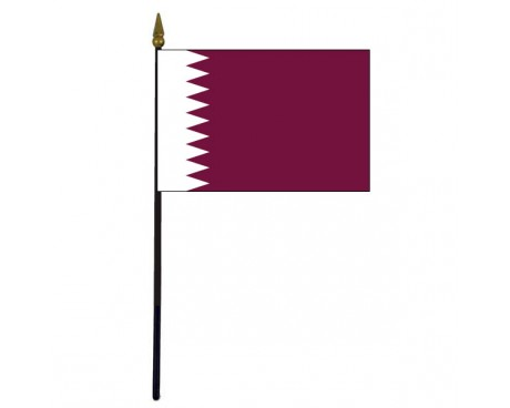Qatar Stick Flag - 4x6""