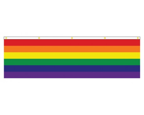 Rainbow Banner (Narrow Stripes)