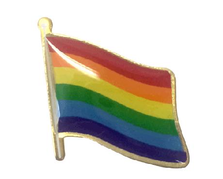 Pride Lapel Pin (Single Waving Flag)