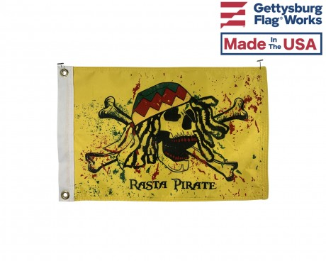 Rasta Pirate Boat Flag