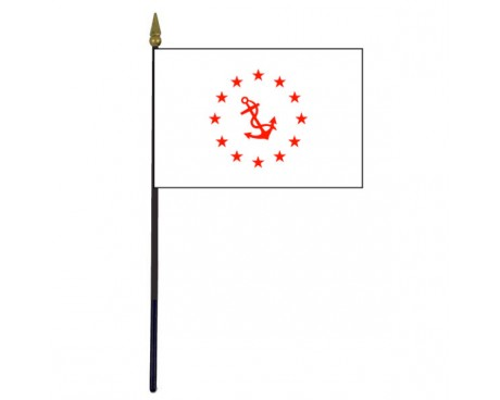 Rear Commodore Stick Flag - 4x6""