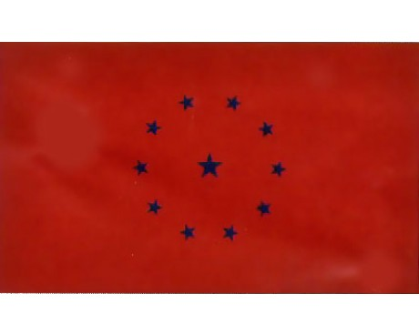 Red Battle Ensign Flag 1861 - 3x5'