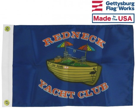 "Redneck Yacht Club Flag 12x18"""