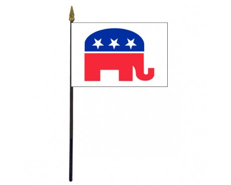 Republican Stick Flag - 4x6""