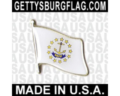 Rhode Island State Flag Lapel Pin (Single Waving Flag)