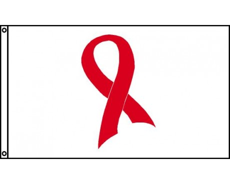 AIDS Ribbon Flag - 3x5'