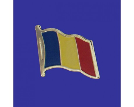 Romania Lapel Pin (Single Waving Flag)