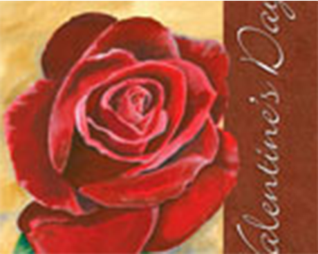 Valentine's Rose Flag Small