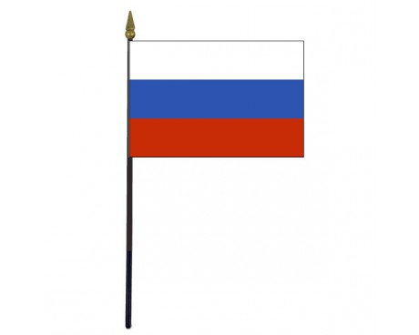 Russian Federation Stick Flag - 4x6""