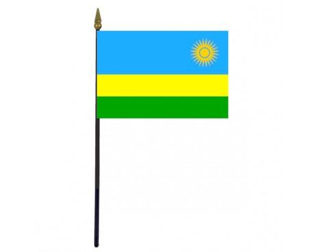 "Rwanda Stick Flag - 4x6"""