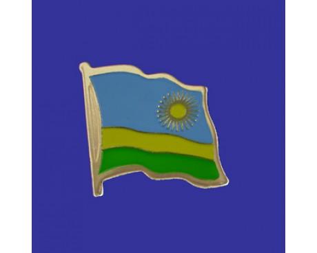 Rwanda Lapel Pin (Single Waving Flag)