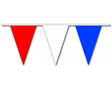 Red/White/Blue Triangle Pennants