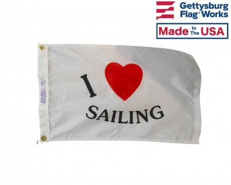 I Love Sailing Flag