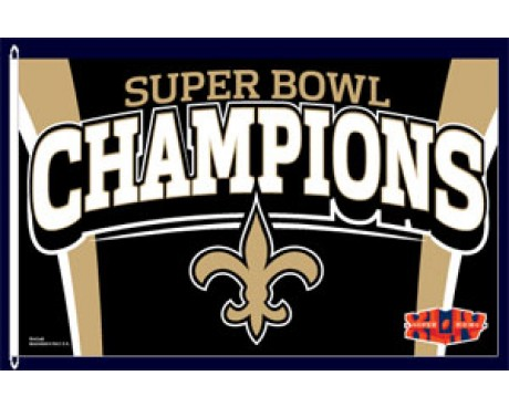 Saints Superbowl Flag (Closeout)