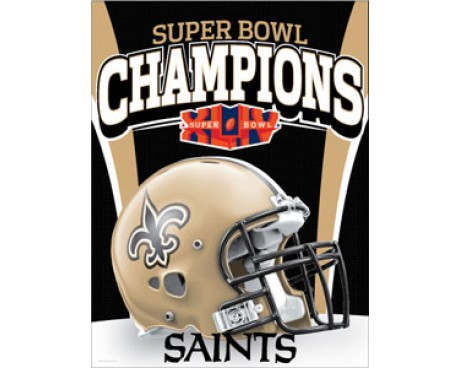 Saints Superbowl Banner Banner (Closeout)