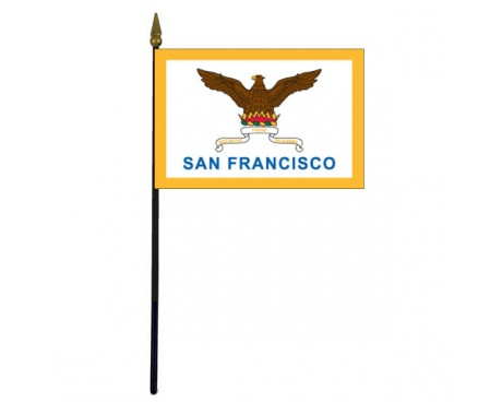 San Francisco City Stick Flag (CA, USA) - 4x6""