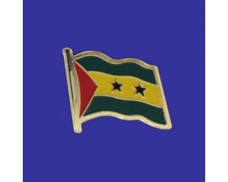 Sao Tome & Principe Lapel Pin (Single Waving Flag)