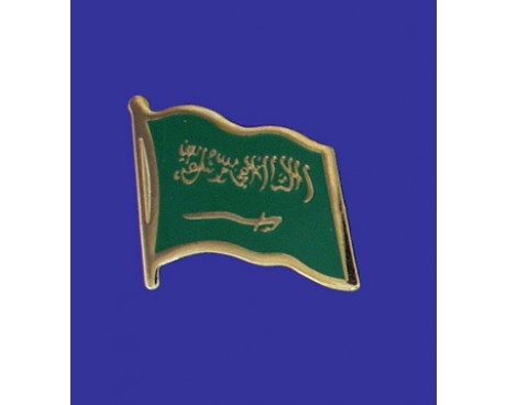Saudi Arabia Lapel Pin (Single Waving Flag)