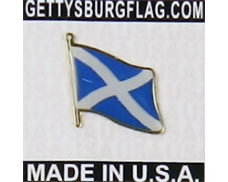 Scotland Cross Lapel Pin (Single Waving Flag)