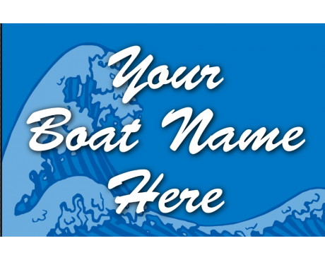 Custom Wave Boat Flag