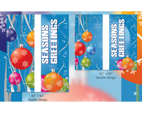 Seasons Greetings/Colorful Ornaments-Double Design Avenue Banner