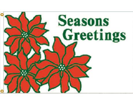 Seasons Greetings Flag - 3x5'