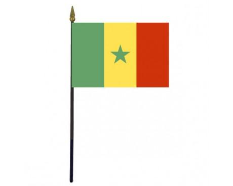 "Senegal Stick Flag - 4x6"""