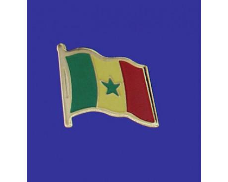 Senegal Lapel Pin (Single Waving Flag)