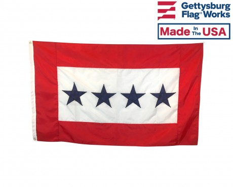 Service Star Flag (4 Blue Stars) - 3x5'