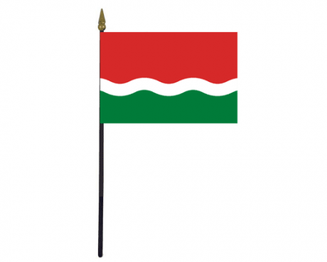 "Seychelles Historical Stick Flag - 4x6"""