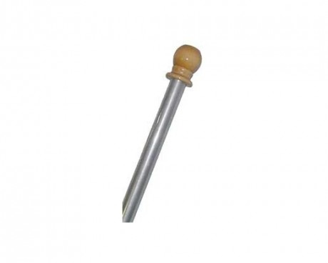 Silver Aluminum Pole with Wood Ball Top