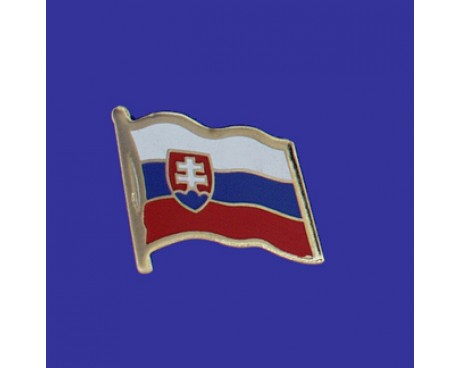 Slovakia Lapel Pin (Single Waving Flag)