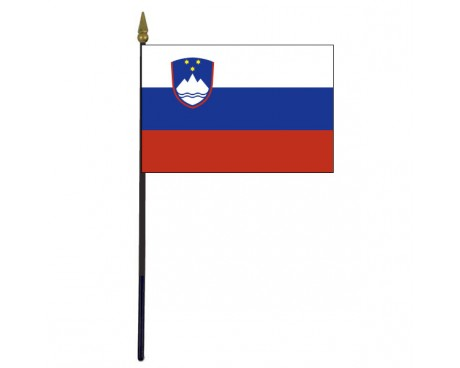 Slovenia Stick Flag - 4x6""