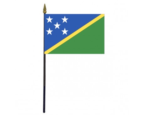 Solomon Islands Stick Flag - 4x6""