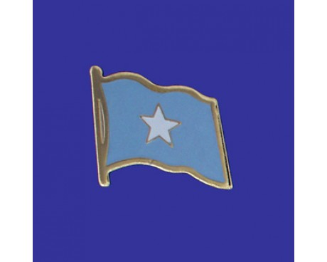 Somalia Lapel Pin (Single Waving Flag)